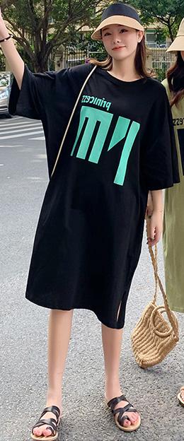 手書き風ドットワンピース☆ゆったり着られる《ミニョンイージーライフ》★