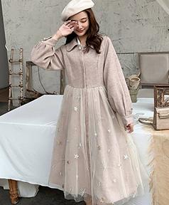 77e6682df3347 長袖・七分袖ワンピース - 大きいサイズレディースファッション専門店 ミニョン