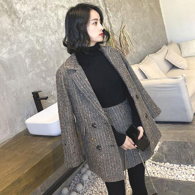 秋冬マストItem!ツイードジャケット×スカートセットアップ★