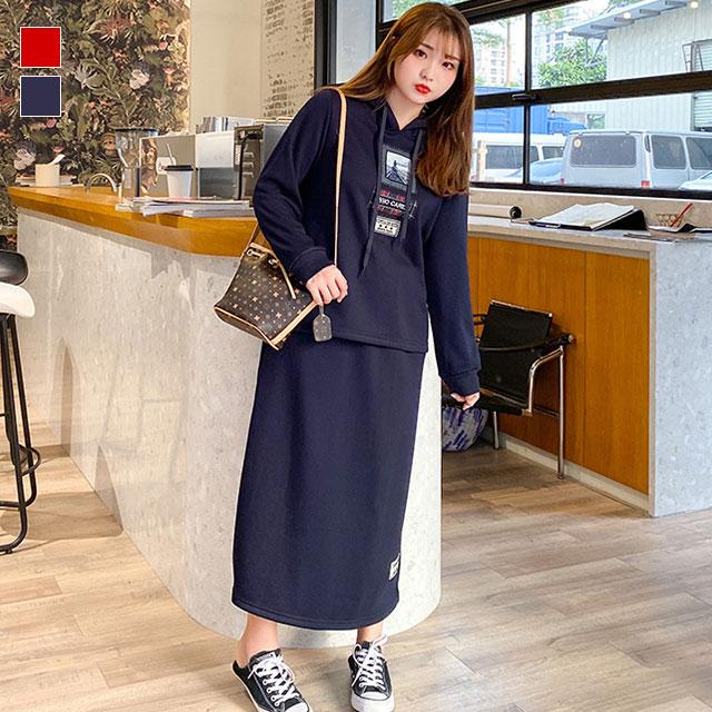 裏起毛のパーカー×スカートセットアップ★