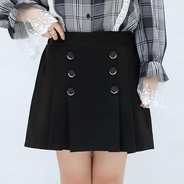 お仕事にも使える♪フロントボタンのプリーツスカート★