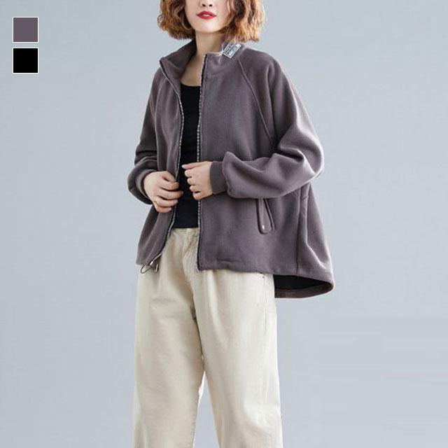 カジュアルなスタンドジャケット☆ゆったり着られる《ミニョンイージーライフ》★