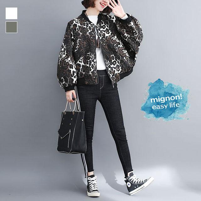 レオパード柄のMA-1ドルマンジャケット☆ゆったり着られる《ミニョンイージーライフ》★