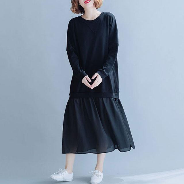裾切替のレイヤードワンピ☆ゆったり着られる《ミニョンイージーライフ》★