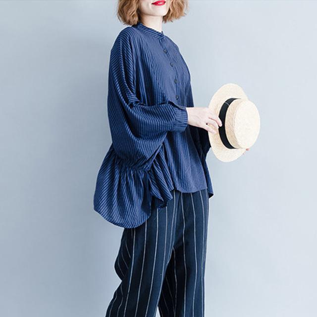 裾フレアのドルマンブラウス☆ゆったり着られる《ミニョンイージーライフ》★