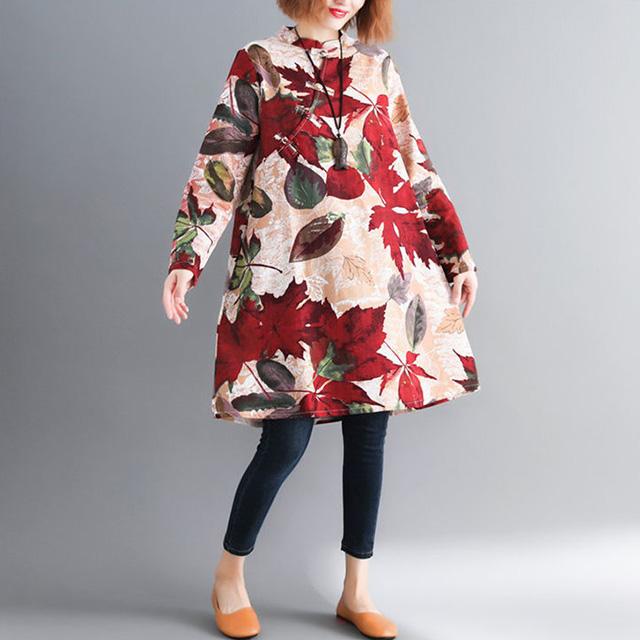 暖かカラーの総柄チュニック☆ゆったり着られる《ミニョンイージーライフ》★