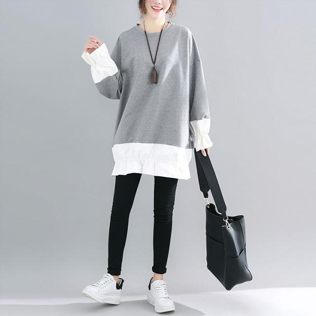 くしゅっと袖&裾のチュニック☆ゆったり着られる《ミニョンイージーライフ》★