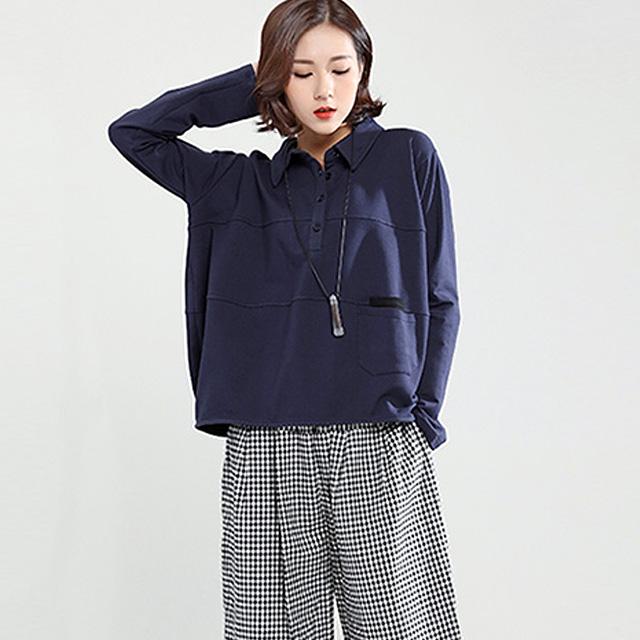 カジュアルシンプルなポロシャツ☆ゆったり着られる《ミニョンイージーライフ》★