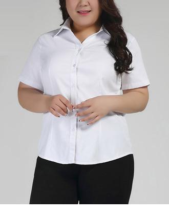 選べる襟♪清潔感のあるシンプル白シャツ★
