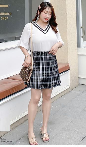 爽やかなライトグリーンのプリーツキュロットスカート★