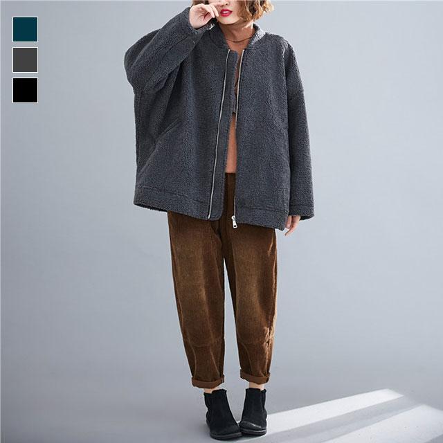 カジュアルなボアジャケット☆ゆったり着られる《ミニョンイージーライフ》★