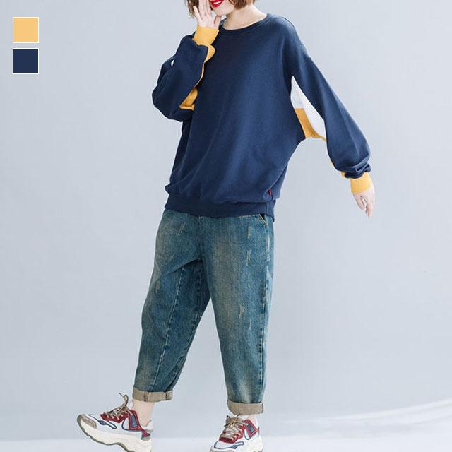 袖ラインがオシャレなスウェットトップス☆ゆったり着られる《ミニョンイージーライフ》★